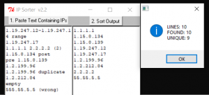Sort IP Addresses Using Perl