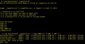 Perl Script to Splice CSV Files