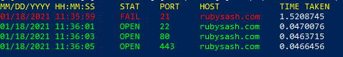 Powershell Check Open Ports