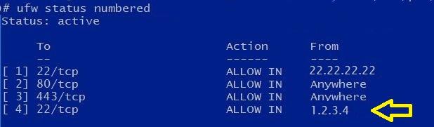 Bash Script Update UFW Rule for Dynamic Host
